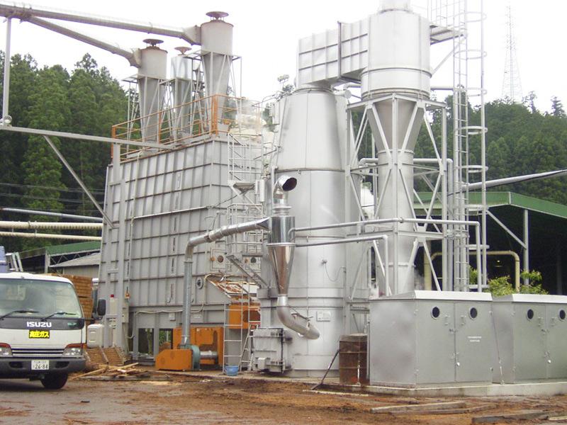 木質燃料焚き(バイオマス)蒸気ボイラー0.5~5t